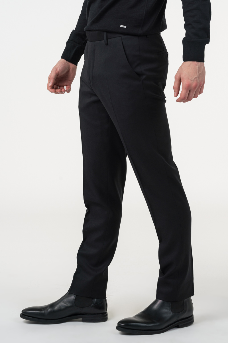 Varteks Classic black men wool pants
