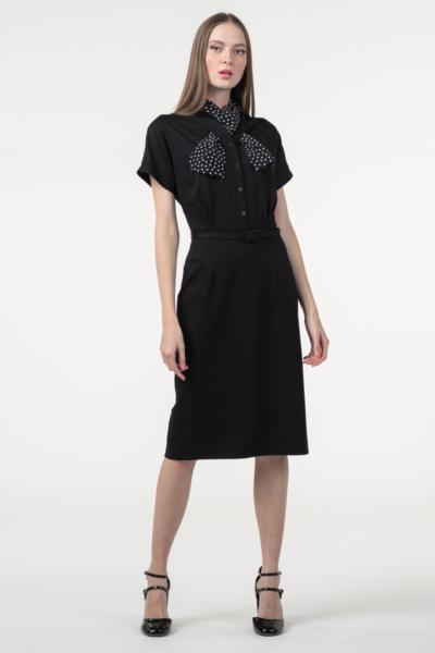 Varteks Women's black retro dress shawl