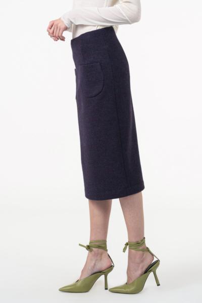 Varteks Ljubičasta pencil suknja od runske vune