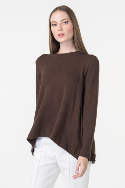 Varteks knitter jumper dark brown color