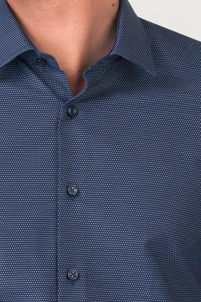Varteks Muška indigo plava košulja sa sitnim uzorkom - Slim fit