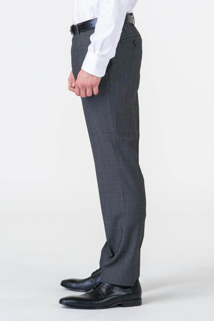 Varteks Muške tamno sive hlače od odijela 100's - Regular fit