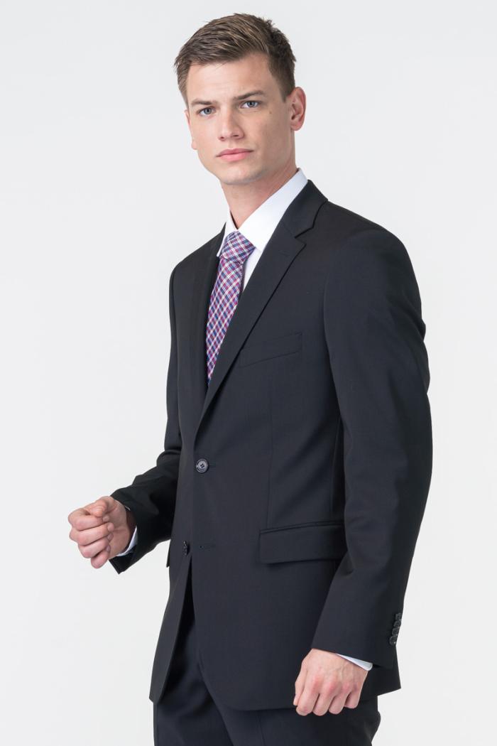 Varteks Men's black blazer - Comfort fit