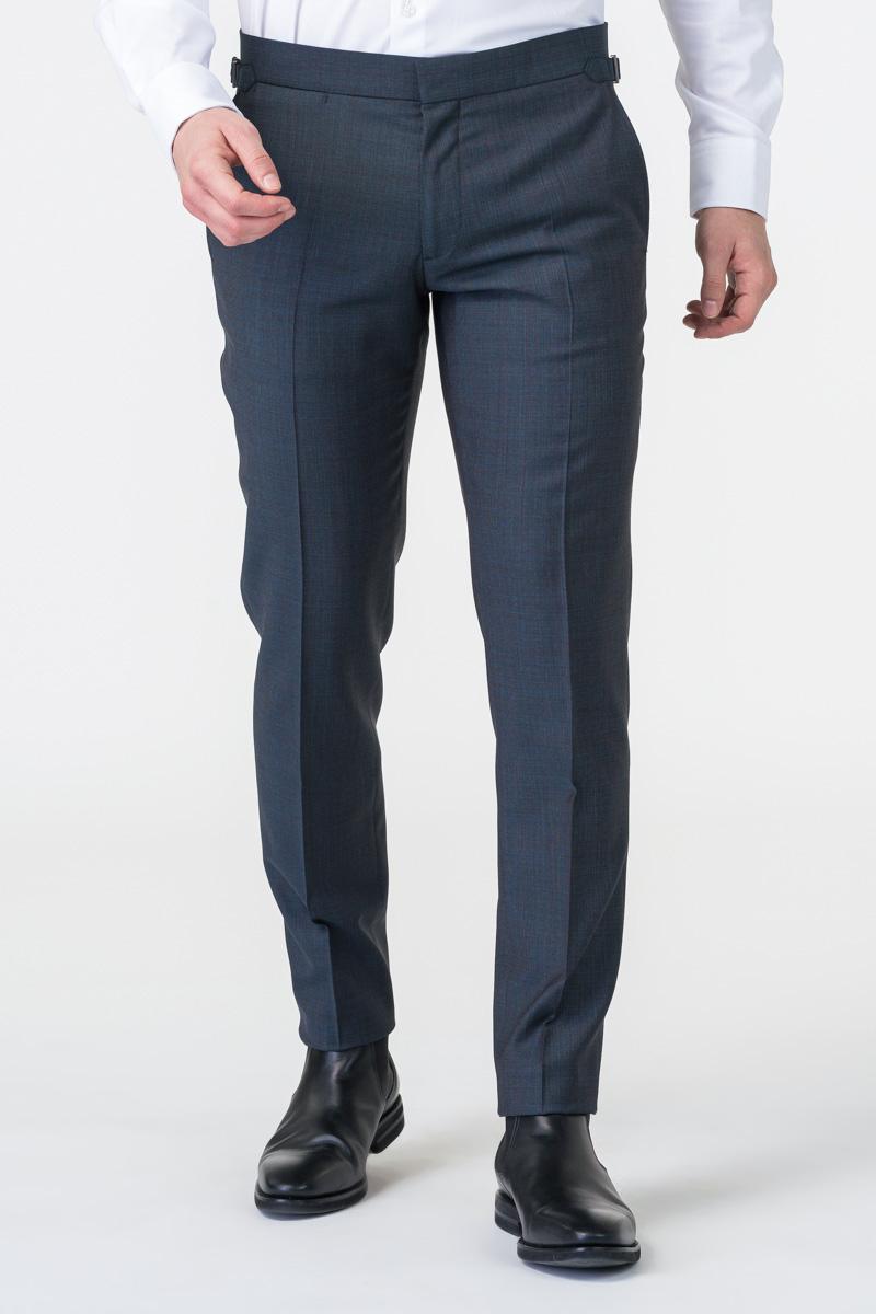 Varteks Men's grey suit pants micro pattern - Slim fit