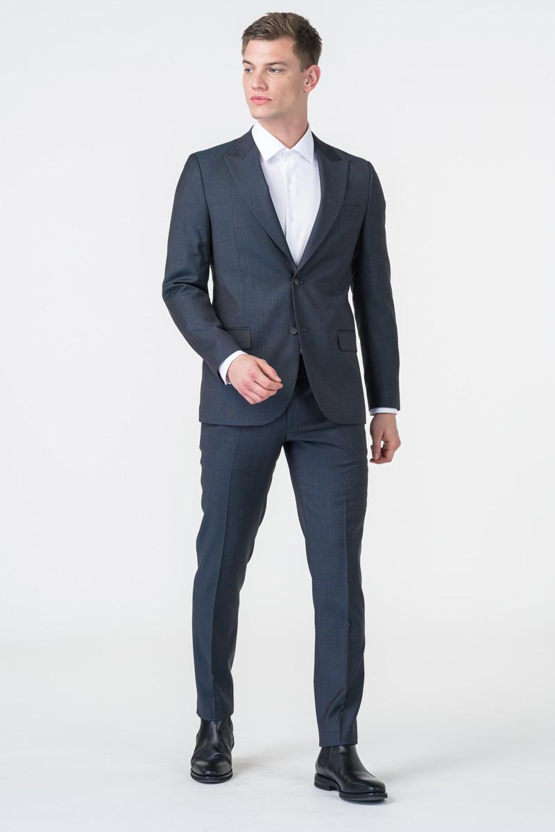 Varteks Muške sive hlače decentnog uzorka od odijela - Slim fit