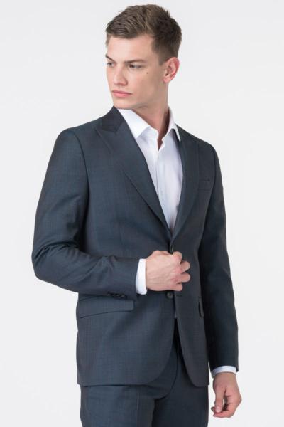 Varteks Muški tamno sivi sako od odijela 100's - Regular fit