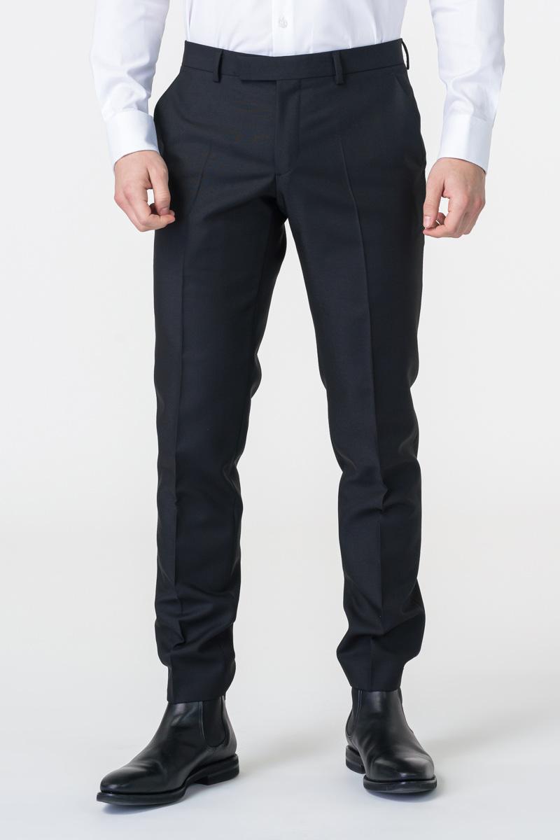 Varteks Limited Edition - Muške crne hlače od odijela - Regular fit