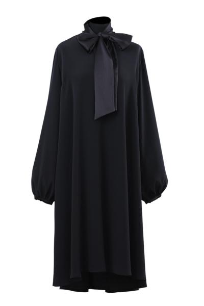 Varteks Tamno plava svečana haljina šireg kroja