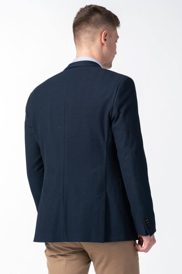 Varteks Muški tamno plavi sako s ukrasnim pinom