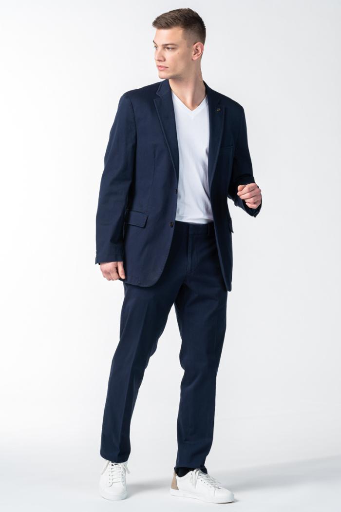 Muške pamučne hlače od odijela u dvije boje - Comfort fit