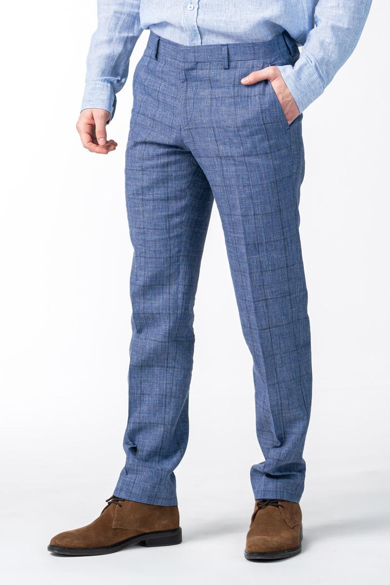 Varteks Muške plave hlače od odijela - Regular fit