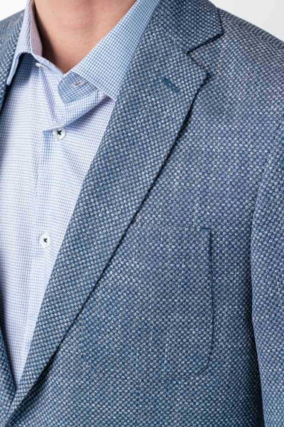 Varteks Men's blue blazer micro pattern - Regular fit