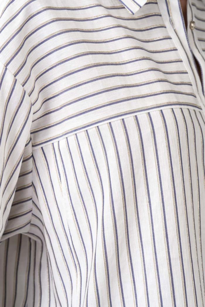 Varteks Bijela haljina-košulja s prugama