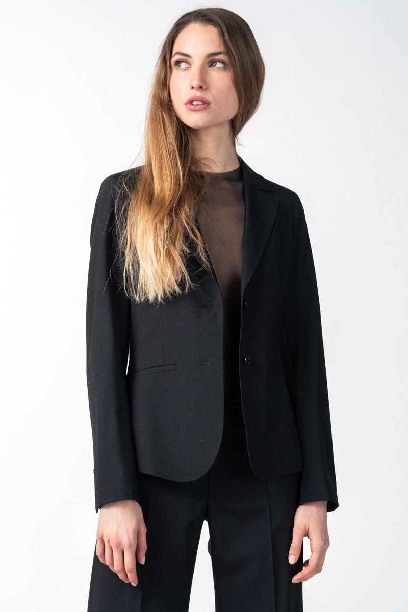 Varteks Ženski crni sako od runske vune