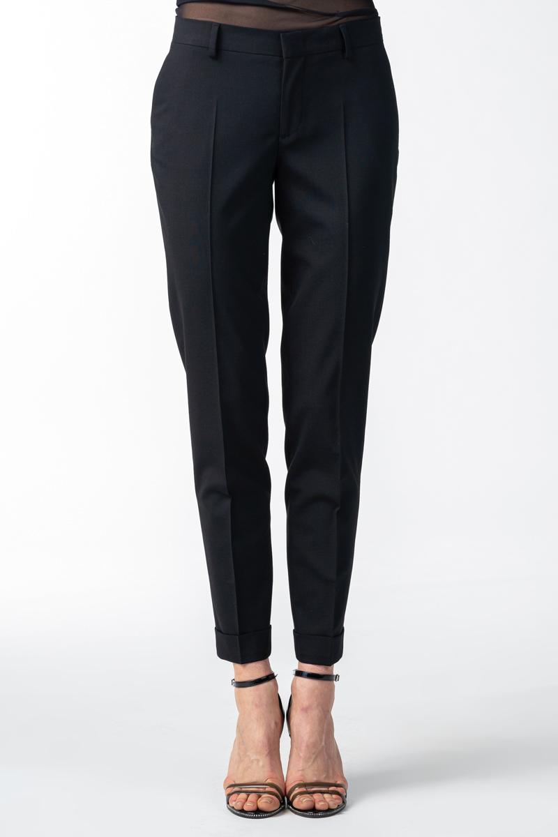 Varteks Ženske crne hlače od runske vune