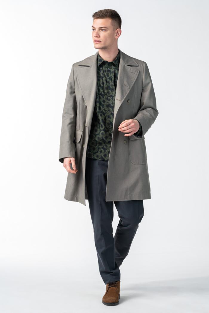 Varteks Grey men's trench coat