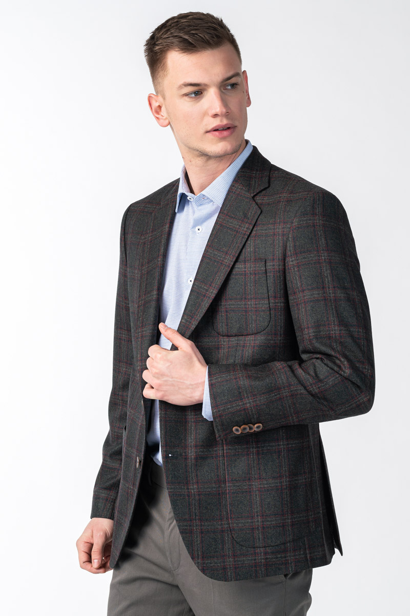 Varteks Men's plaid dark green blazer - Limited Edition