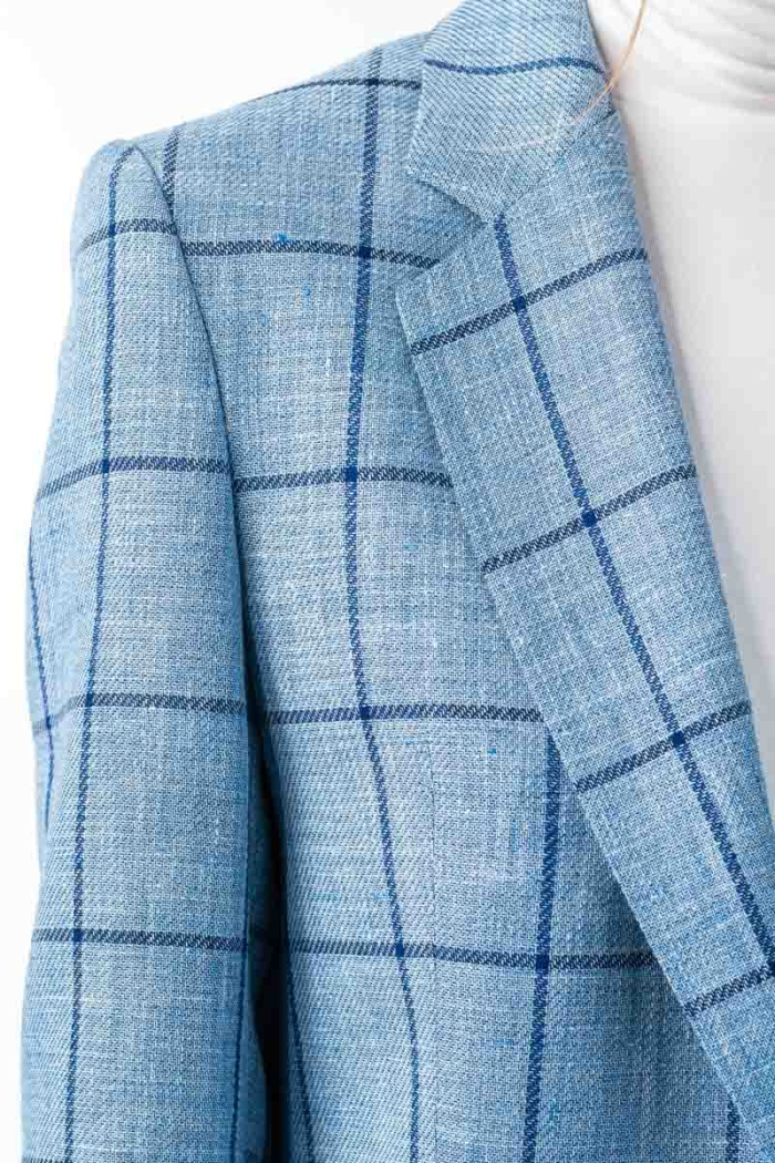 Varteks Svijetlo plavi karirani ženski sako