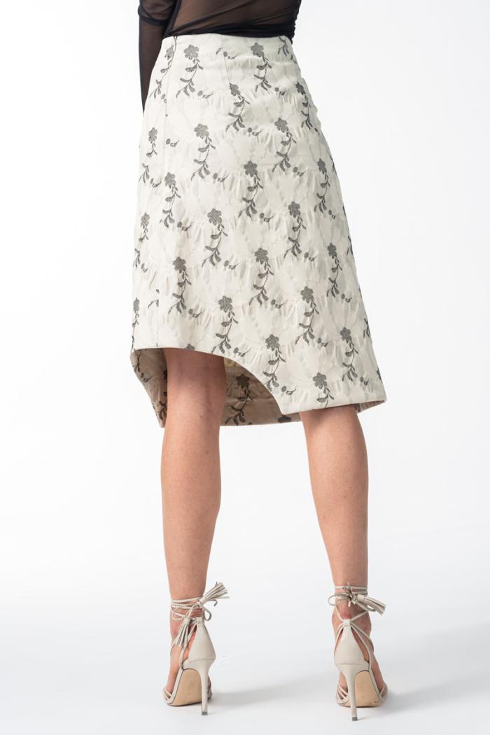 Varteks Women's skirt with a flower print
