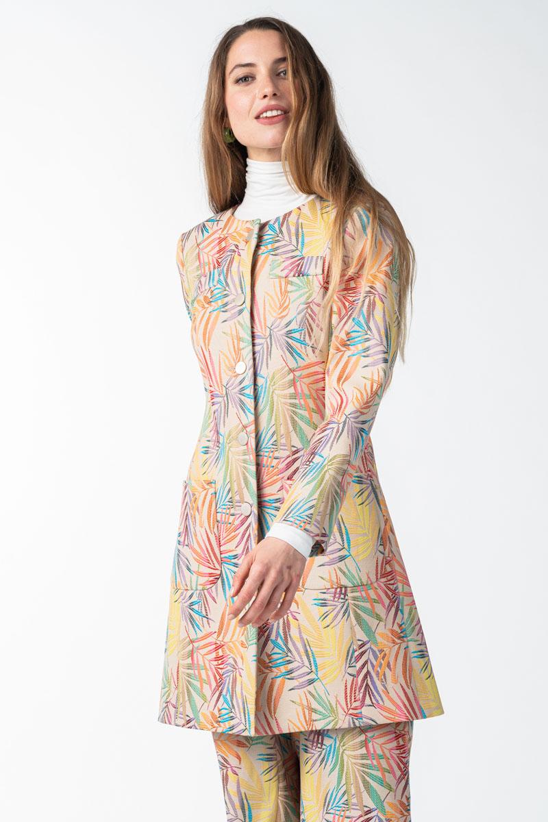 Varteks - Dugi ženski sako šarenog uzorka