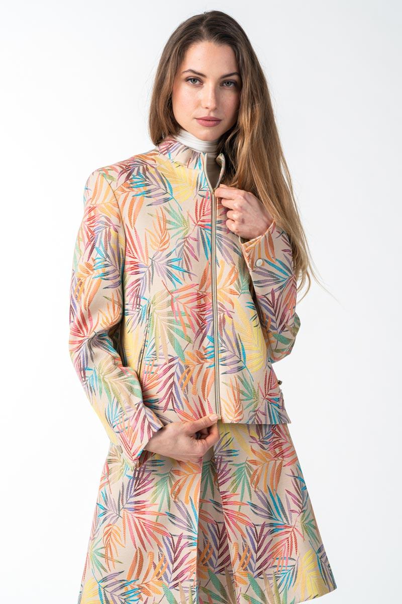 Varteks - Ženska kratka jakna šarenog uzorka