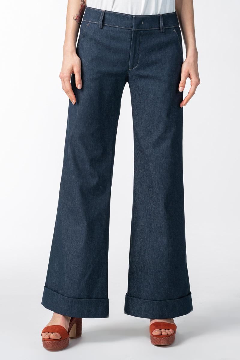Varteks Ženske široke hlače trapez kroja