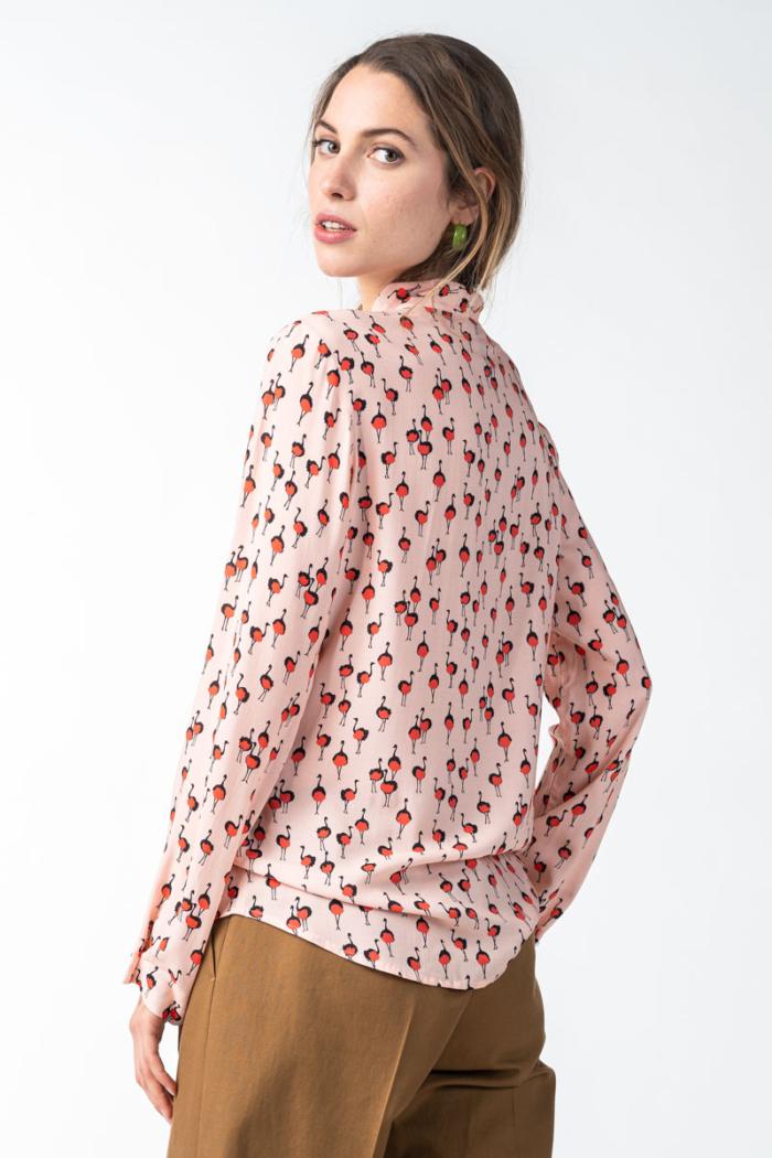Varteks Ženska roza bluza s mašnom