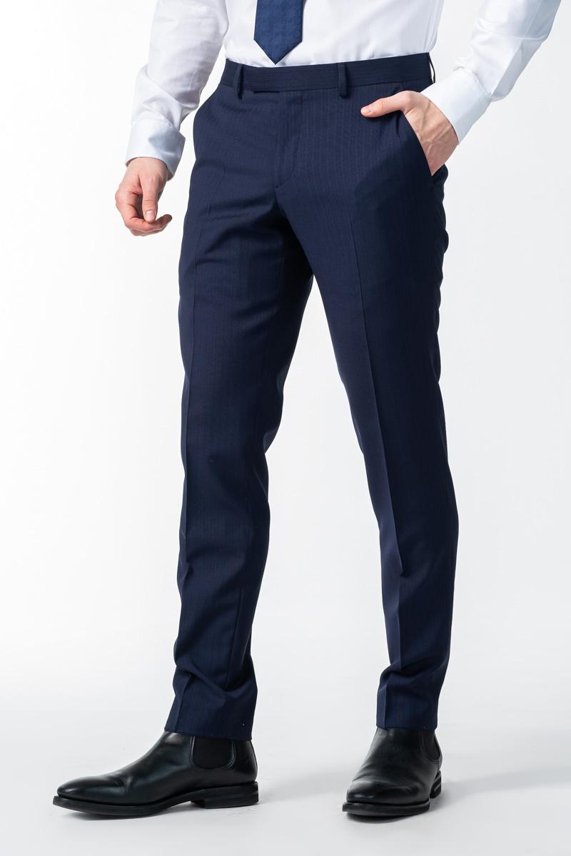 Varteks Muške decentno prugaste hlače od odijela - Regular fit