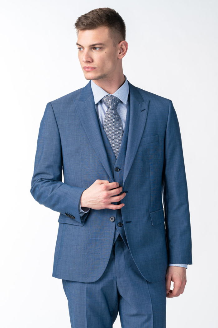 Vateks Men's mid - blue blazer - Regular fit