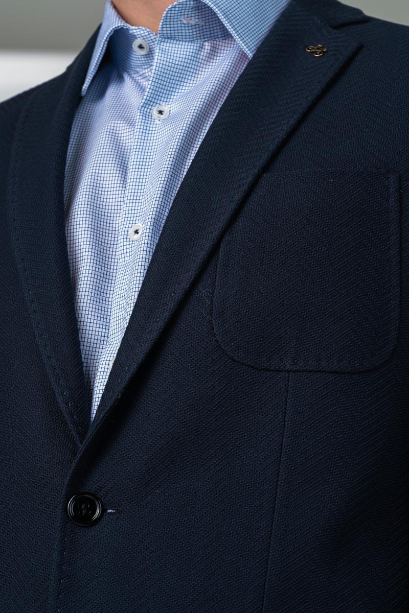 Varteks Varteks Muški tamno plavi sako s ukrasnim pinom