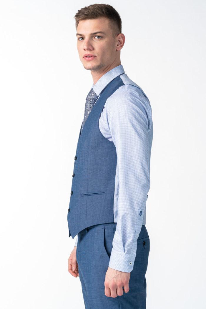 Varteks Men's vest mid blue color