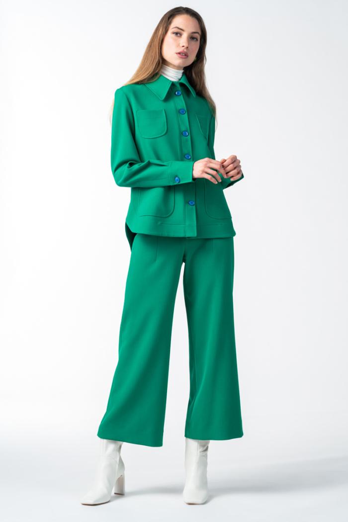 Varteks Ženske zelene široke hlače