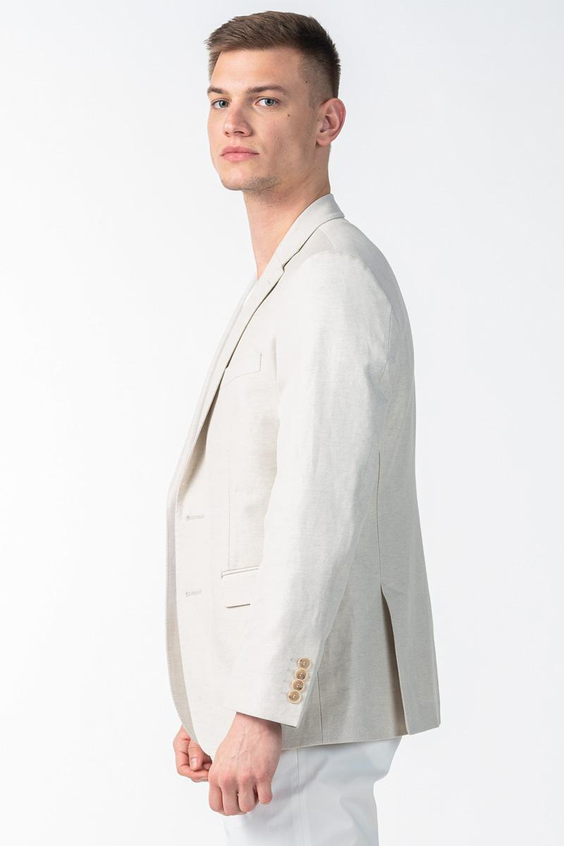 Vareteks Muški sako prirodno bijele boje - Regular fit