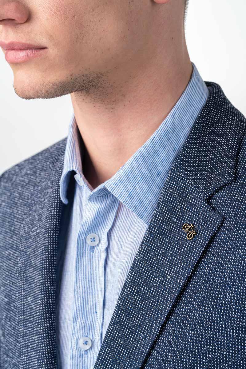 Varteks Men's dotted navy blue blazer