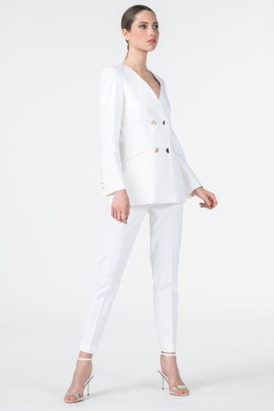 Klasične bijele ženske hlače