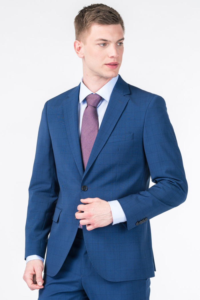 Varteks Muški decentno karirani sako od odijela - Super 110's - Regular fit
