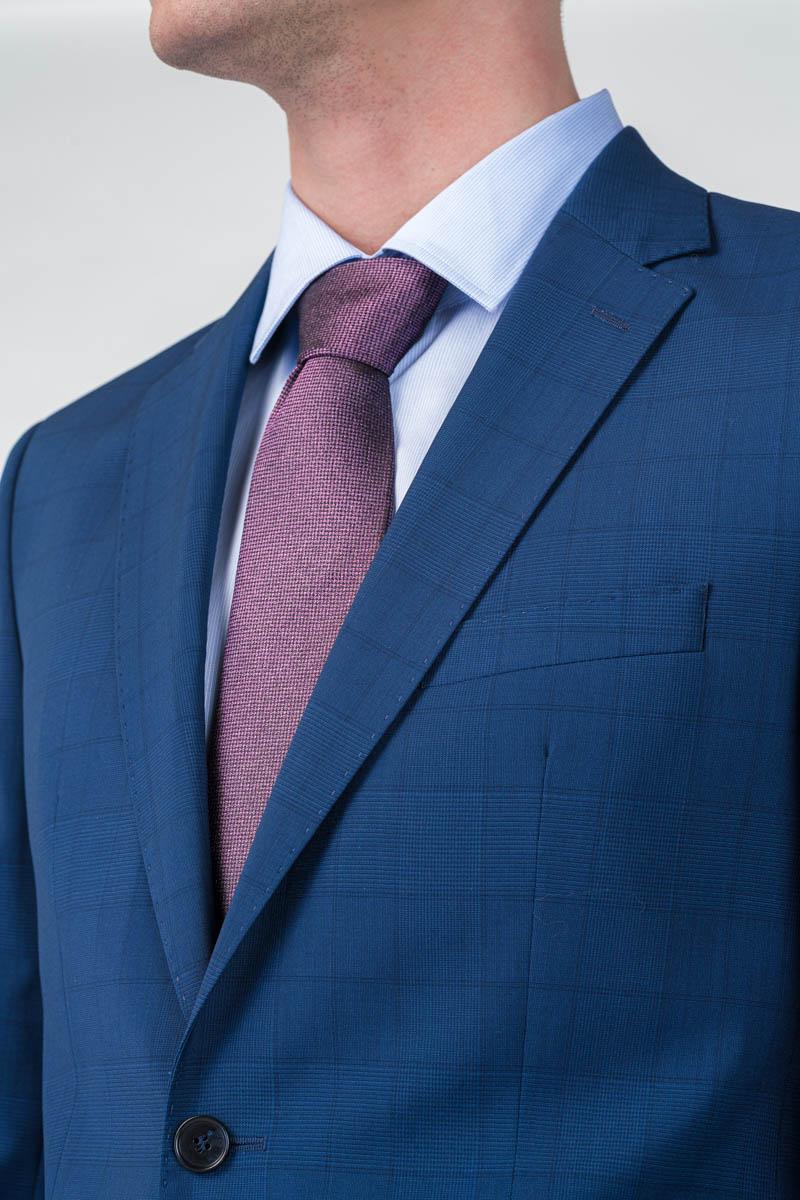 Varteks Muški sako od odijela decentno karirani - Super 110's - Regular fit