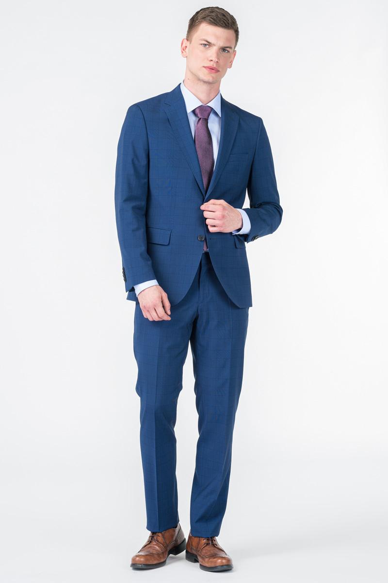 Varteks Men's plaid suit trousers - Super 110's - Regular fit