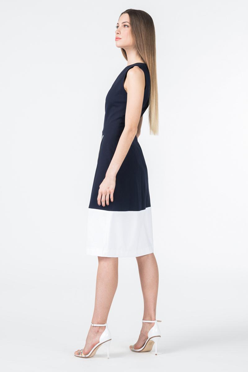 Varteks Ženska haljina bez rukava plavo bijele boje