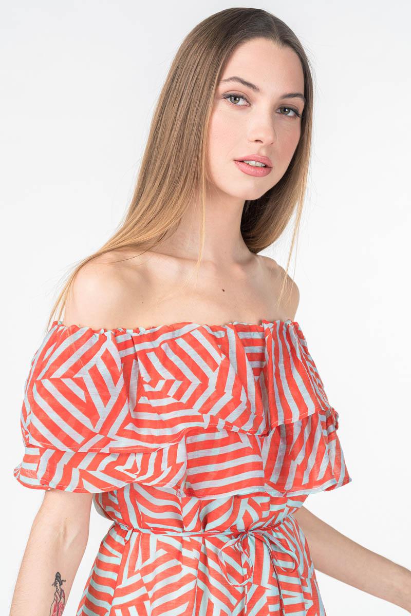 Varteks Ženska prozračna haljina geometrijskog uzorka