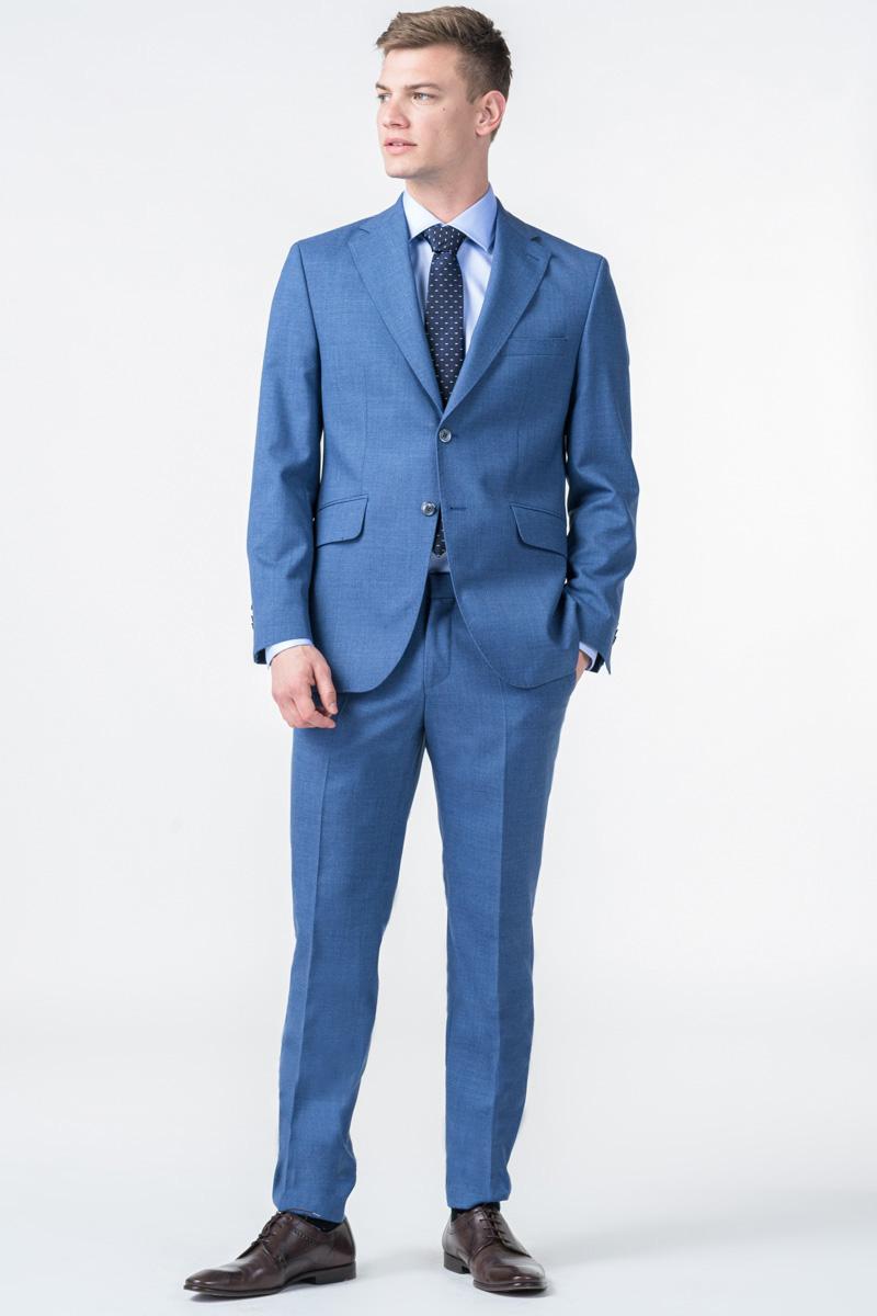 Varteks Limited Edition - Muške plave hlače od odijela - Regular fit