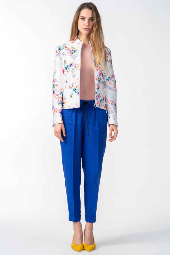 Varteks Women's short jacket flower print