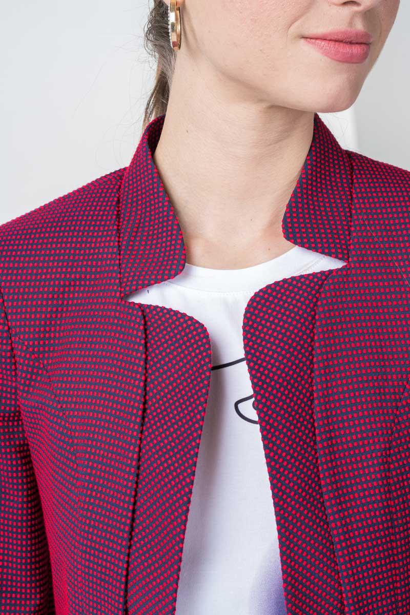 Varteks Women's fitted red-blue blazer