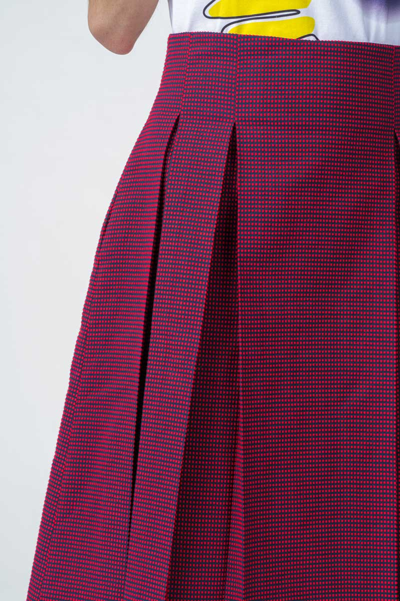 Varteks Pencil skirt red-blue pattern