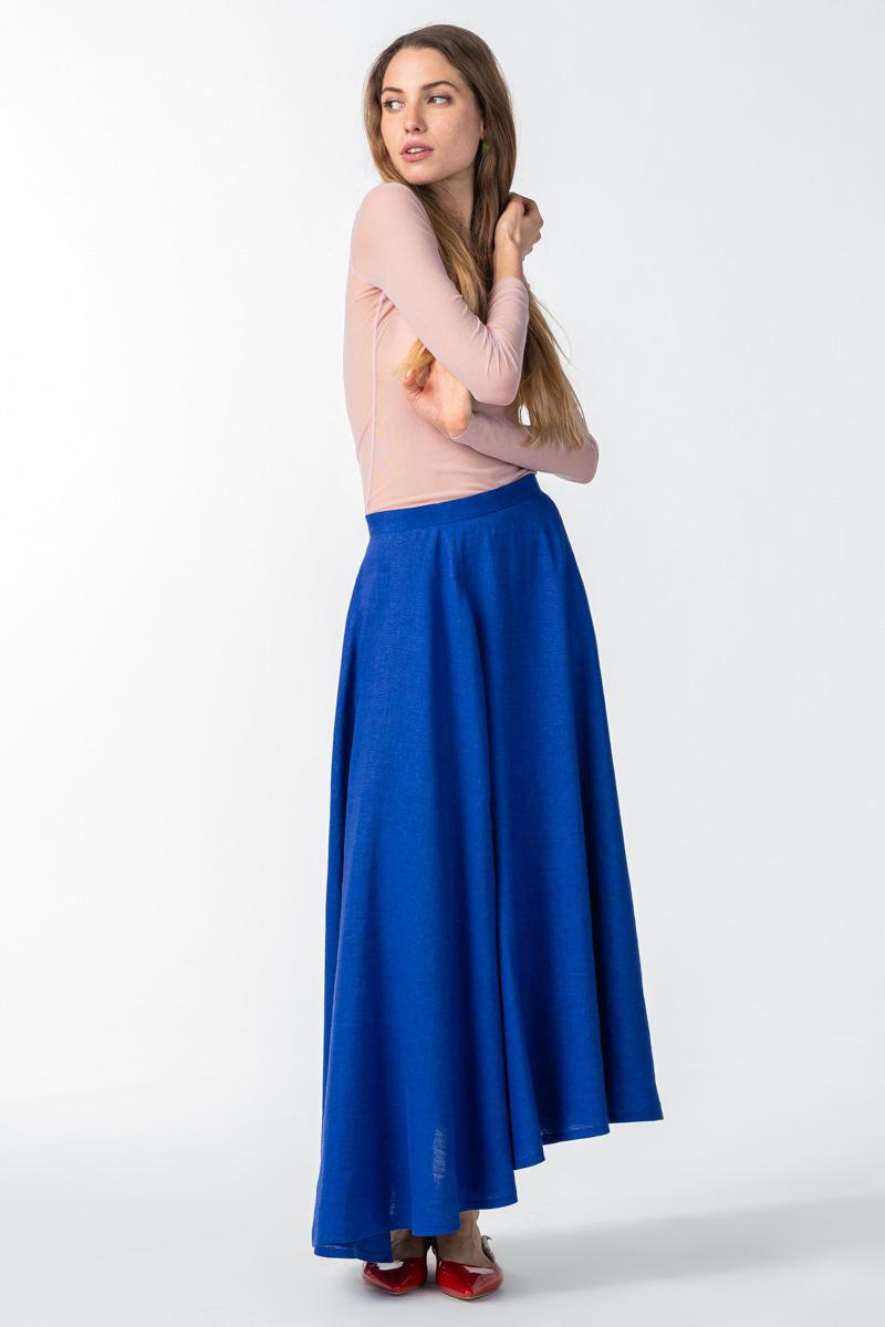 Varteks Ženska indigo plava duga suknja