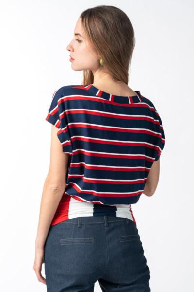 Varteks Women's striped shirt short sleeves