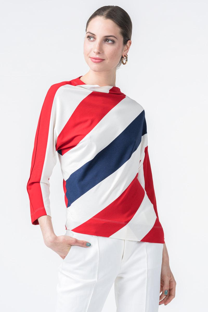 Ženska majica na široke pruge