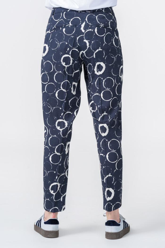 Varteks Women's navy blue patterned trousers