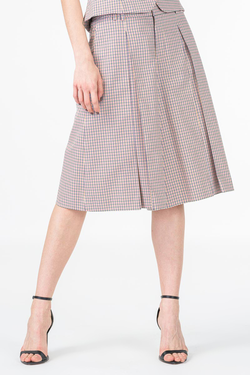Ženske karirane suknja hlače
