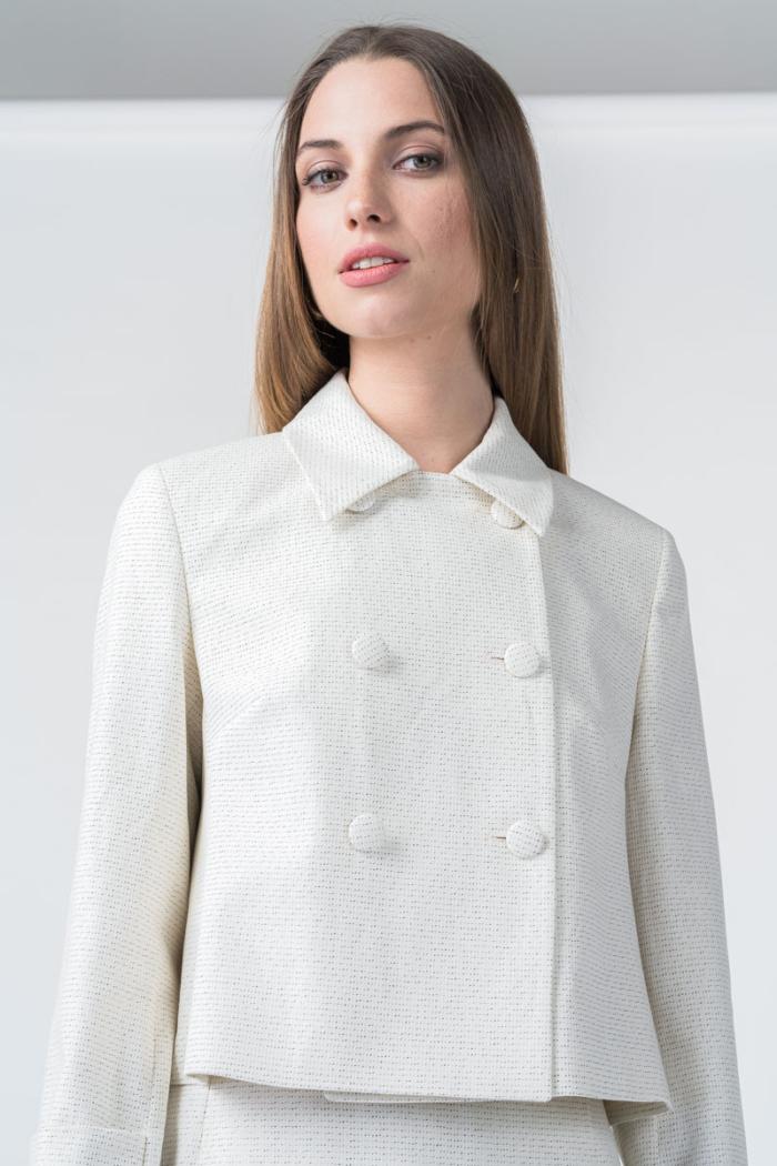 Varteks Beige women's double-brested jacket